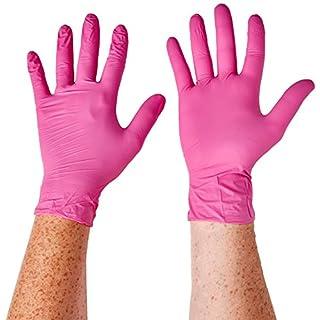 SUPERMAX 78887Aurelia Blush Nitril Handschuhe, puderfrei, mittel, pink (200Stück)