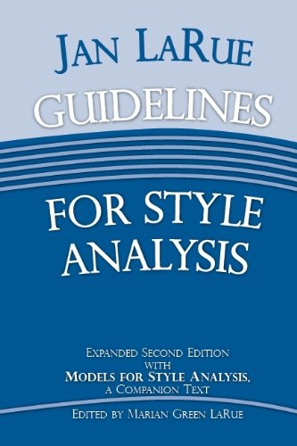 Télécharger Guidelines for Style Analysis: Models for Style Analysis, a Companion Text PDF