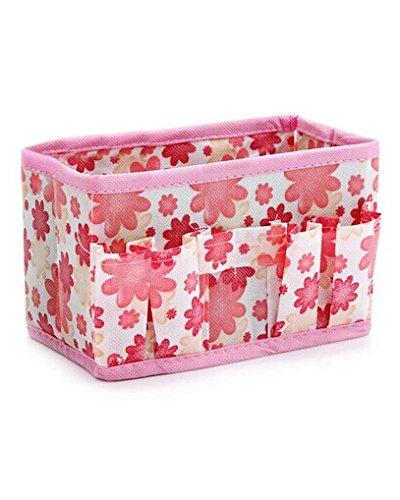 SAMGU Beauté Cosmetic Bag Trousses à maquillage double beau sac à main cosmétique Boîte de rangement taille 18 * 10.5 * 10CM