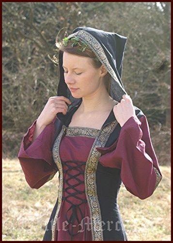 medieval-dress-saphiria-with-hood-larp-viking-dress-bordeaux-black-xxl