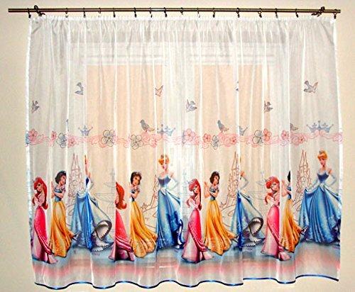 Disney voile net curtain PRINCESSES - width 225cm/89 x drop 160cm/63 by Princesses