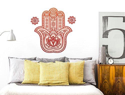 I-love-Wandtattoo WAS-12153 Wohnzimmer Wandtattoo Indien ''Indische Hand'' Design Motiv zum Kleben Wandaufkleber Fatima Zeichen Amulett Abwehrhand...
