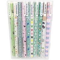 Leisial 10 Unidades Bolígrafos de Tinta Gel de Creativas Lindo Kawaii Papelería Subrayadores de Colores (1)