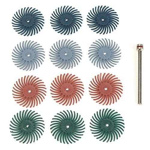 ILS - 12st 1/8 Zoll Shank Borste Bürsten 80/120/220/400 Grit Tellerbürsten