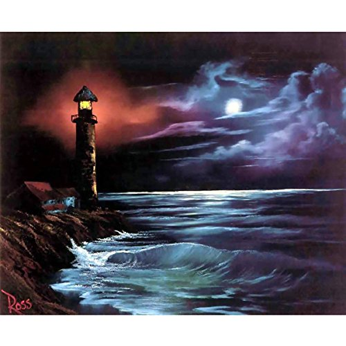 Leuchttürme Home Decor (MXJSUA DIY 5D Diamant-Malerei von Nummer Kits Full Rund Strass Kreuzstich Bild Craft für Home Wand-Decor 30,5x 40,6cm Leuchtturm)