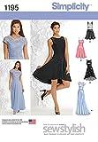 Simplicity Damen Schnittmuster 1195einfach Kleider