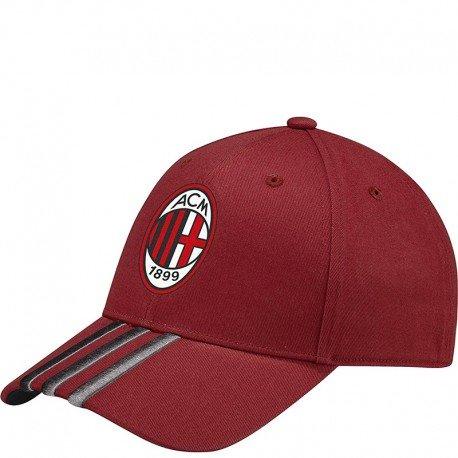 adidas Herren AC Mailand 3-Streifen Kappe, Vicred/Granit, - Milan-bekleidung Ac