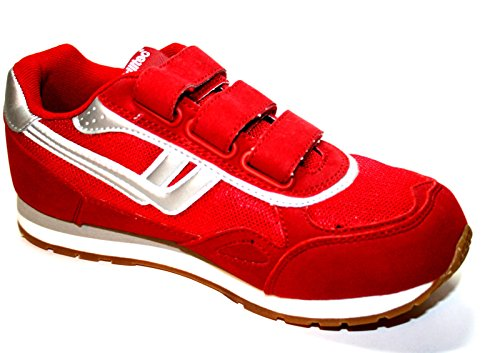 Killtec KP 845 Jr. Velcro, Scarpe stringate basse bambine rosso (rosso/argento)