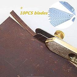 MS artesanía en cuero herramienta de posicionamiento de artesanía de cobre cortador de cuero caja de herramientas de bricolaje TO65