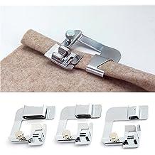 Juego de 3 prensatelas para máquina de coser, multifunción, para envolver y dobladillo,