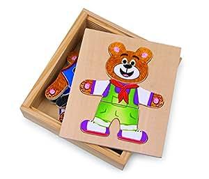 Legler Dress-Up Bear Nico Wooden Puzzles