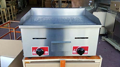 fry top,plancha de asar a gas industrial 75cm para negocios