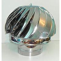 Chimenea cubierta Spinner Spinning viento de acero inoxidable giratoria tapa ventilación Pipefit 100A 200mm