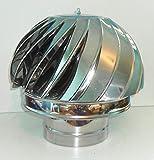 Kamin Spinner Rotorvent Stahl Spinning Wind drehbarer Kappe Passform 100 bis 350 mm (100 mm)
