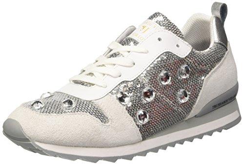 Trussardi Jeans 79S21451, Scarpe Low-Top Donna, Argento (Silver), 38 EU