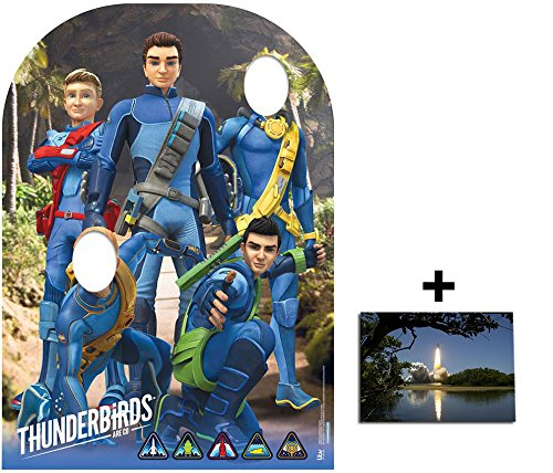 Fan Pack - Thunderbirds Are Go Child Size Stand-in Cardboard Cutout 2D Standup / Cutout Plus 20x25cm Photo