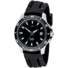 JOBO Herren-Armbanduhr Quarz Analog Edelstahl Mineralglas