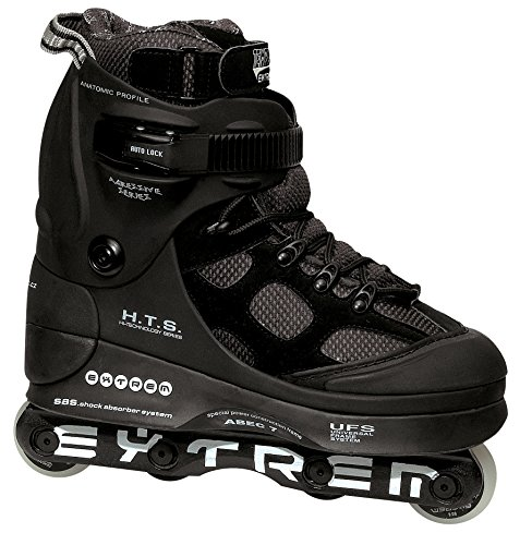 TEMPISH® EXTREME 2 Inline Skates | Street Skates | Stunt Skates | Aggressive Skating | Inline Blades | ABEC7 Chrome Kugellager | UFS-Kompatibel | Größen 38-46, Tempish Größe:40, Tempish:Black -