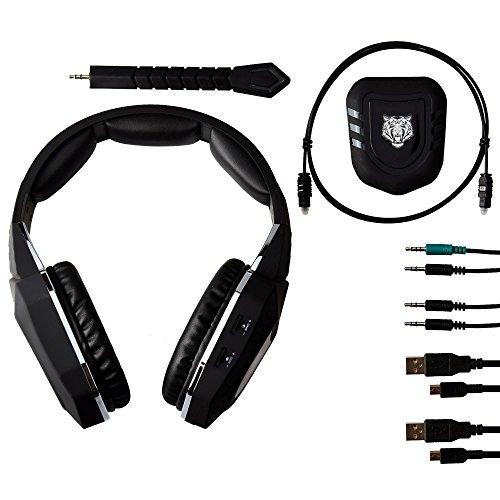 McBazel Wireless Gaming Headsets Abnehmbare MIC 2.4GHz Wireless Headset für PS4 / PS3 / Xbox One / Xbox 360 / PC / Mac / TV