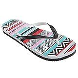 FLOSO® Womens/Ladies Aztec Pattern Toe Post Flip Flops
