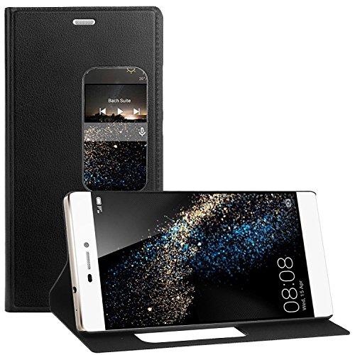 Huawei P8 Hülle , EnGive Qualität PU Flip Case / Hülle / Ledertasche / Tasche/ Schutzhü lle Für Huawei P8 Smartphone (Schwarz)