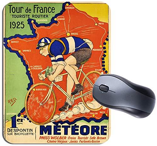 Tour de France Karte 1925Vintage Poster Mauspad. Meteore Fahrrad Cycling Maus Pad -