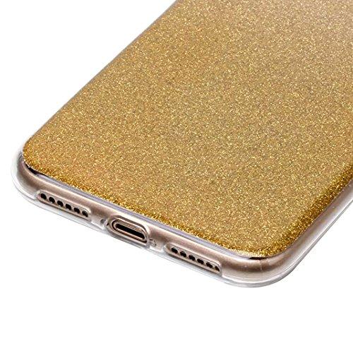 Rosa Schleife iPhone X Glitzer Hülle Ultra Dünn Weiche Silikon TPU Backcover Bling Schale Gold
