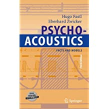 Psychoacoustics: Facts And Models [ Pas de CD inclus ]