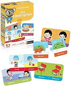 Nathan La Petite école Les contraires Niño Niño/niña - Juegos educativos, Niño, Niño/niña, 2 año(s), España, 280 mm