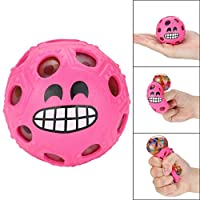 YUYOUG Stress Relief Ball, Novelty Fun Emoji Grape Ball Mesh Squishies Pressure Ball Stress Reliever Toys Magic Gift for Kids and Adults (Pink)