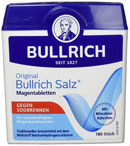 Original Bullrich Salz Tabletten, schnelle Hilfe bei Sodbrennen und säurebedingten Magenbeschwerden (180 Tabletten)