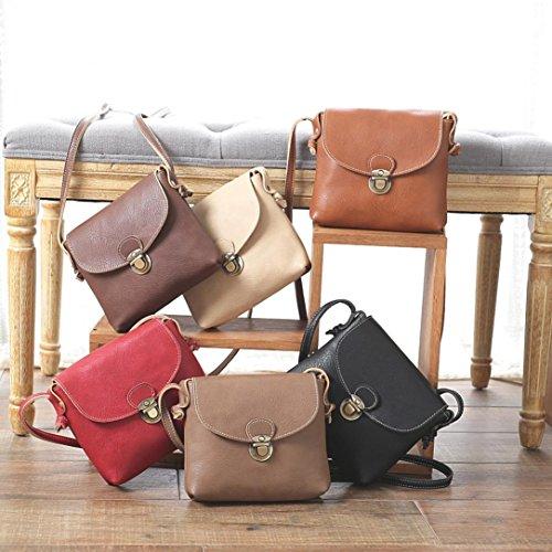 BZLine® Frauen Leder Handtasche Satchel Handtasche Schultertasche Shopper tasche, 17*19.5*4cm Kaffee