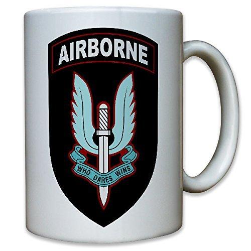 22st Special Composite Airborne Regiment Fallschirmjäger Wappen Abzeichen Emblem HALO HAHO Royal Army SAS Special Air Service - Tasse Kaffee Becher #10417 T (Service-uniform Marine)