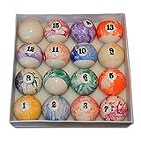 Billardkugeln Flecken und Streifen 63.5mm / Snooker / Pool Balls (PB1)