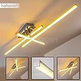 Deckenleuchte Powassan im minimalistischen Design mit hellem, warmweißem Licht – LED-Lampe für das Wohnzimmer – verstellbare Leuchtstäbe mit fest installierten LED-Lichtern
