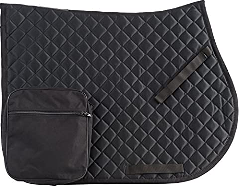 RANDOL'S Hiking Saddle Blanket with Pockets, Horse Size, black, Taille cheval