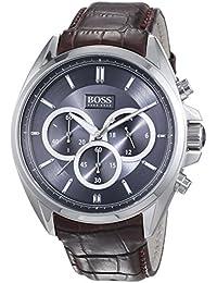 Hugo Boss 1513035 - Reloj de pulsera hombre, piel, color marrón