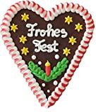 Lebkuchenherz- Frohes Fest, 16cm (zufällige Farben)