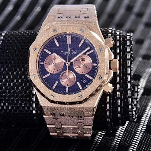 PLKNVT Luxusmarke Neue Herrenuhr Chronograph Saphir Edelstahl Roségold Matt Kristall Stoppuhr Leuchtend Schwarz Blau LimitiertRoségold