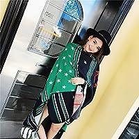 Otoño - Invierno Bufanda, Chal como Dama De Cachemira, Split Y Espeso Chal,Verde