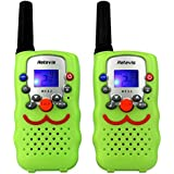 Retevis RT32 Kids Walkie Talkie 8CH PMR446 License Free Two Way Radio for Children with Torch (Green,1 Pair)