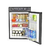 Smad Mini Réfrigérateur à Absorption 3 Voies pour Caravanes Camping-Car RV Motorhomes 220V / 12V / Gaz 60L Noir