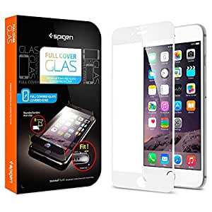 """Spigen SGP11377 Film de protection d'écran en verre trempé pour iPhone 6 4,7"""" Blanc"""