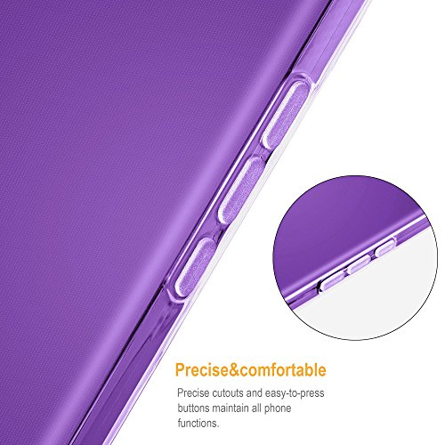 Cadorabo - Ultra Slim TPU Etui pour Apple iPhone 6 / 6S (4.7) Housse Gel (silicone) en Design 'AIR' - Coque Case Cover Bumper en COMPLET-TRANSPARENT VIOLETS-TRANSPARENT