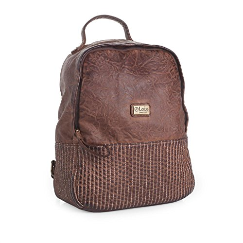 LOIS - Mochila en polipiel Maroon, Color Marron