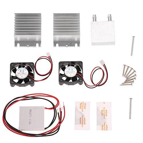 Kühler-kit Lüfter (KKmoon DIY Kit Thermoelektrischer Peltier Kühler Kühlung Kühlsystem Kühlerleitungsmodul + 2 Lüfter + 2 TEC1-12706)