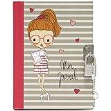 Journal Intime & carnet secret avec cadenas et clefs. Capacité 80 pages. Dimensions 15 x 11 x 1 cm