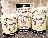 Kalligraphie-Kerze für Hochzeiten, hochwertig