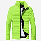 The Black Friday Sale,Mäntel Herren,SANFASHION Männer Cotton Outwear Stand Zipper Warme Winter Dicken Winterjacke Jacke