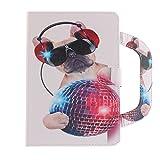Galaxy Tab S2 8.0 Hülle, Dfly Premium PU Leder Tragbar Handtasche Case Standfunktion Kartensteckplätze Doppelter Magnet Ultra Slim Flip Tasche Schutzhülle Cover für Samsung Galaxy Tab S2 8.0 Zoll T710 / T715 / T719, Mode-Hund